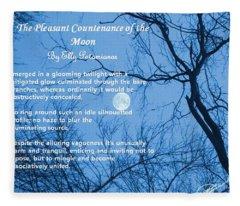 The Pleasant Countenance Of The Moon Fleece Blanket