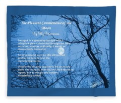 The Pleasant Countenance Of The Moon Fleece Blanket