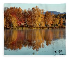 The Point Of Maine Fall Colors Fleece Blanket