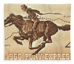 The Pony Express Centennial Stamp Fleece Blanket