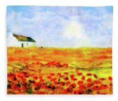 The Poppy Picker Fleece Blanket