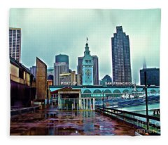 The Port Of San Francisco Fleece Blanket
