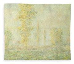 The Prairie In Giverny Fleece Blanket
