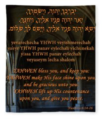 The Priestly Aaronic Blessing Fleece Blanket