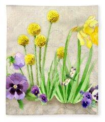 The Promise Of Spring - Dragonfly Fleece Blanket