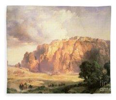 The Pueblo Of Acoma In New Mexico Fleece Blanket
