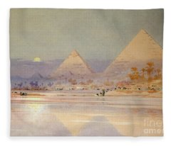 The Pyramids At Dusk Fleece Blanket