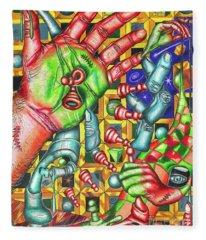 The Quantum Mechanics Of Chess And Life Fleece Blanket