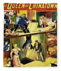 The Queen Of Chinatown Fleece Blanket