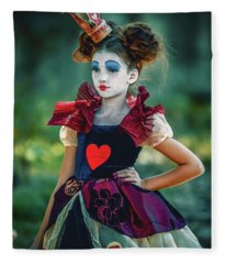 The Queen Of Hearts Alice In Wonderland Fleece Blanket