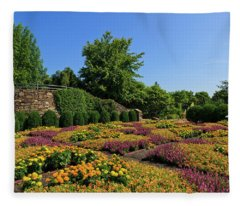 The Quilt Garden Fleece Blanket