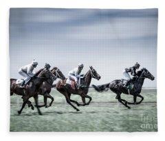 The Race Is On Fleece Blanket