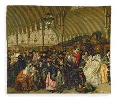 The Railway Station Fleece Blanket