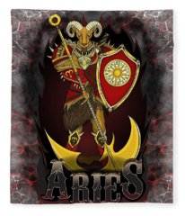 The Ram Aries Spirit Fleece Blanket