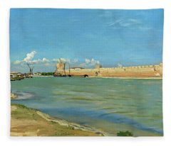 The Ramparts At Aigues Mortes Fleece Blanket