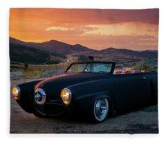 The Rat Rod 1950 Studebaker Fleece Blanket