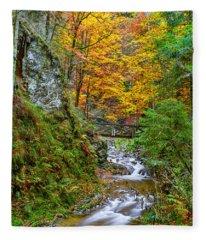 Cascades And Waterfalls Fleece Blanket