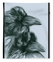 The Ravens Of Odin Fleece Blanket