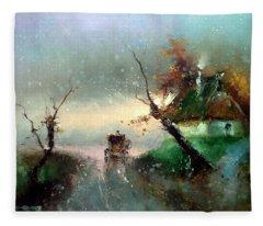 The Rays Of The Morning Sun Fleece Blanket