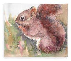 The Red Squirrel Fleece Blanket