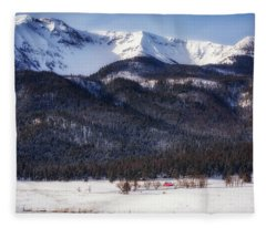 The Red Barn Fleece Blanket