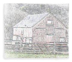 The Red Barn Fleece Blanket