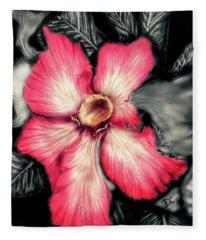 The Red Flower Fleece Blanket