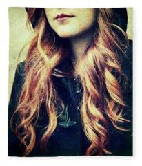 The Red-haired Girl Fleece Blanket