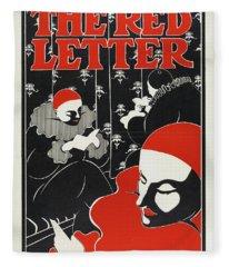 The Red Letter Fleece Blanket
