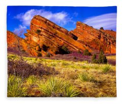 The Red Rock Park Vi Fleece Blanket