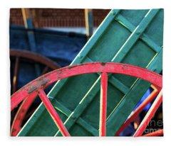 The Red Wagon Wheel Fleece Blanket