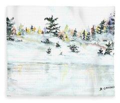 The Reflection Lake Fleece Blanket
