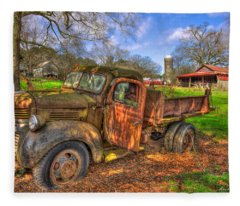 The Resting Place 1947 Dodge Dump Truck Georgia Farm Art Fleece Blanket