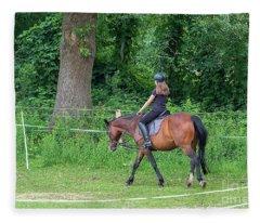 The Riding School In Suburb Fleece Blanket