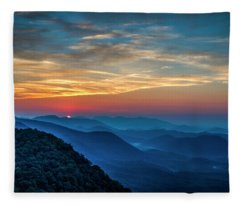 The Rising Sun Pretty Place Chapel Greenville S C Great Smoky Mountain Art Fleece Blanket