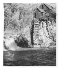 The River Mill At Crystal River Valley Fleece Blanket