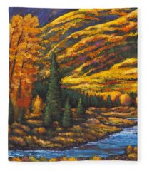 The River Runs Fleece Blanket