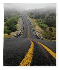 The Road Goes On Forever And The Party Never Ends Fleece Blanket