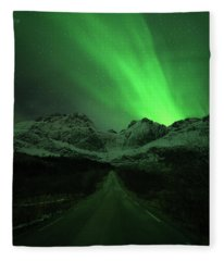 The Road To Nusfjord Fleece Blanket