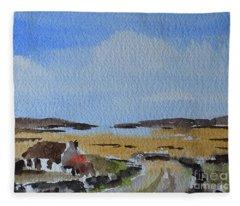 The Road To Omey Island, Galway Fleece Blanket