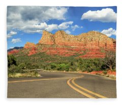 The Road To Sedona Fleece Blanket