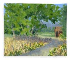 The Road To The Back Field Fleece Blanket