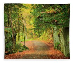 The Road To The Mill  Fleece Blanket