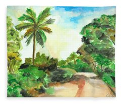 The Road To Tiwi Fleece Blanket