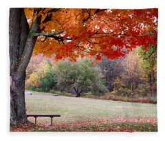 The Robert Frost Farm Fleece Blanket