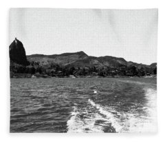 The Rock Of Guatape Fleece Blanket
