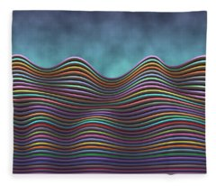 The Rolling Hills Of Subtle Differences Fleece Blanket