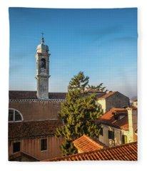 The Roofs Of Venice Fleece Blanket