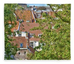 The Rooftops Of Leiden Fleece Blanket