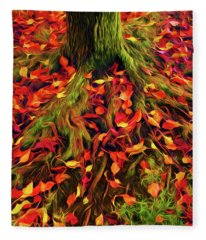 The Root Of Fall Fleece Blanket